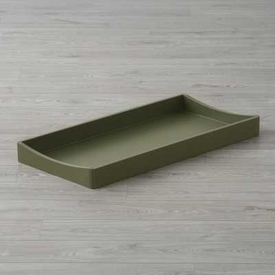 Hampshire Olive Green Changing Table Topper - Crate and Barrel