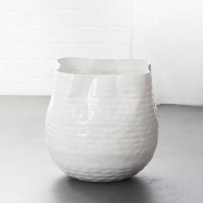 Liquid Large White Basket - CB2