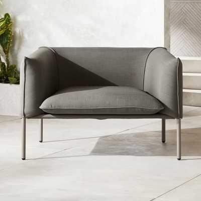 Novara Lounge Chair Grey - CB2