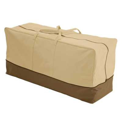 Classic Accessories Veranda X-Large Patio Cushion Storage Bag, Pebble/Brown/Earth - Home Depot