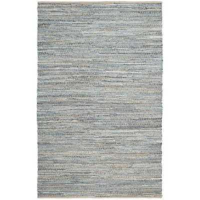 Gilchrist Hand-Woven Natural/Blue Area Rug - Wayfair