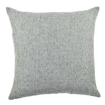 Light Blue Chenille Designer Throw Pillow - Home Depot