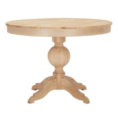 StyleWell Unfinished Wood Round Pedestal Table for 4 (42 in. L x 29.75 in. H) - Home Depot