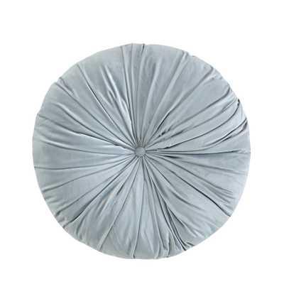 """Light Gray Velvet Round Floor Pillow Cushion (24""""x24"""") - Target"""