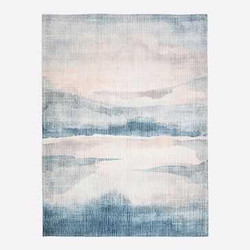 Sunset Lake Rug, Midnight, 8'x10' - West Elm