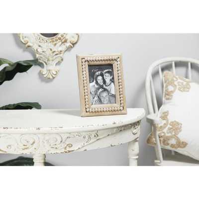 Litton Lane 5 in. x 7 in. Natural Beige Tabletop Picture Frame, Browns/Tans - Home Depot