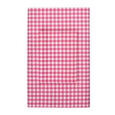 Gingham Hot Pink Cotton Percale Standard Pillowcase (Set of 2) - Home Depot