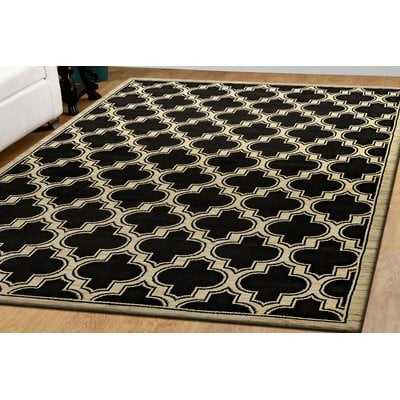 Mishawaka Geometric Black Area Rug - Wayfair
