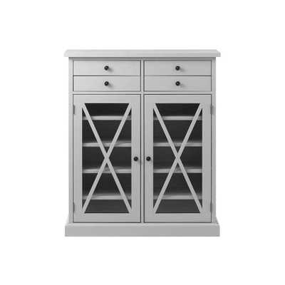 Hampton Grey Storage Cabinet - Home Depot