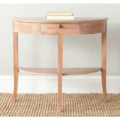 Alex Red Maple Storage Console Table - Home Depot