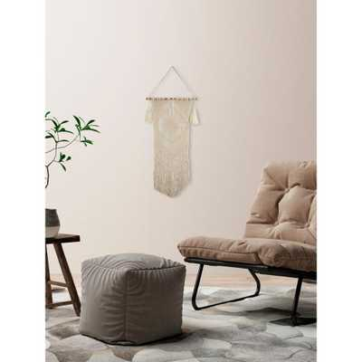 """Beige """"Diamond Macrame"""" by Marmont Hill Wall Tapestry - Home Depot"""