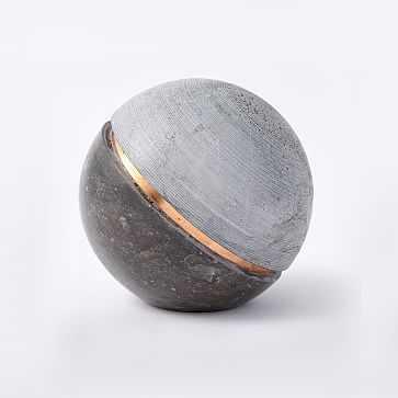 Stone Sphere, Gray - West Elm