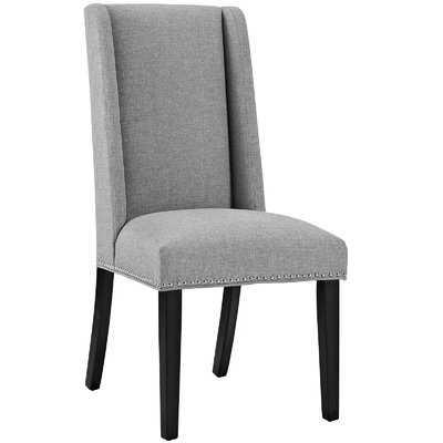 Florinda Wood Leg Upholstered Dining Chair / Light Gray - Birch Lane