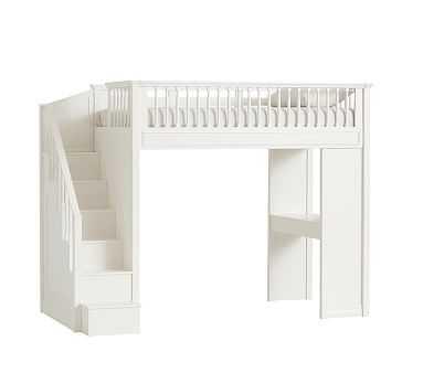 Fillmore Stair Loft, Simply White - Pottery Barn Kids
