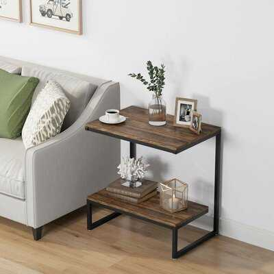Lippa Rustic End Table, Industrial Sofa Chair Side Table With 2-Tier Storage Shelf, Vintage Night Stand For Living Room - Wayfair