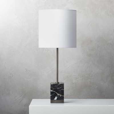 Sharp Black Marble Table Lamp - CB2