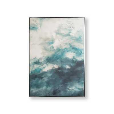 Abstract Skies Framed Canvas Wall Art, Blue/Blue - Home Depot