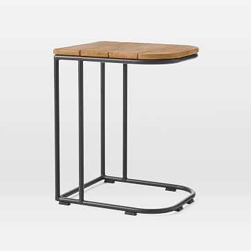 Halden Outdoor Side Table, Antique Bronze - West Elm