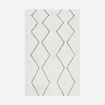 Souk Wool Nursery Rug, 5'x8', Ivory - West Elm