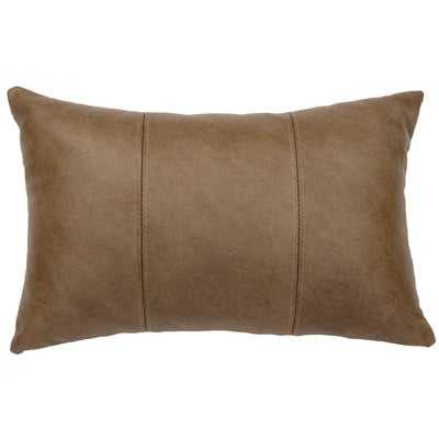 Hayfield Leather Lumbar Pillow - Wayfair