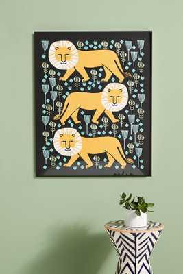 Safari Lion Wall Art - Anthropologie