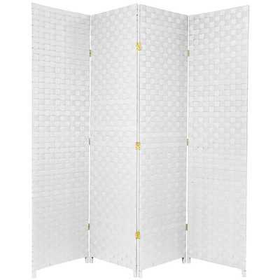 Oriental Unlimited 6 ft. White 4-Panel Room Divider - Home Depot