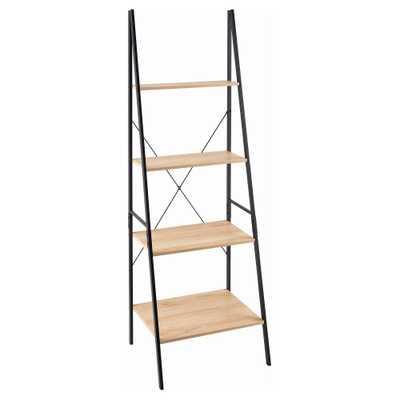 Ladder Bookshelf Mixed Material - 70 - Natural - ClosetMaid, Light Brown - Target