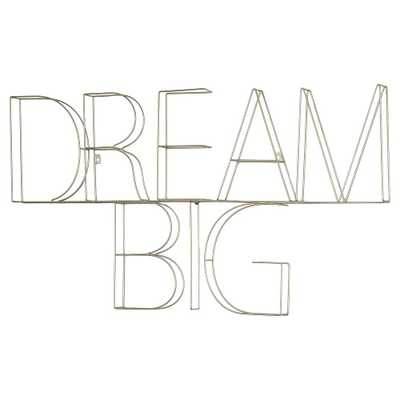 "Dream Big Wire Wall Décor (39""x25"") Silver - Pillowfort - Target"