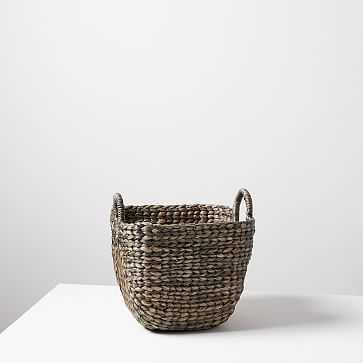 Large Curved Basket, Tobacco - West Elm