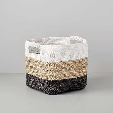 Tricolor Storage Basket, Storage - West Elm