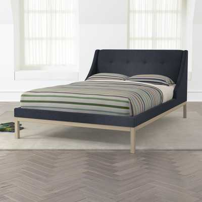 Gallery Navy Full Wing Bed - Crate and Barrel