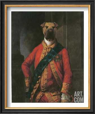 """SIR WALTER BARK - 9"""" x 11"""" - COVENTRY Black Thin Frame Without Mat - art.com"""