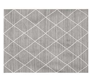 Jute Lattice Rug, 8x10', Gray - Pottery Barn