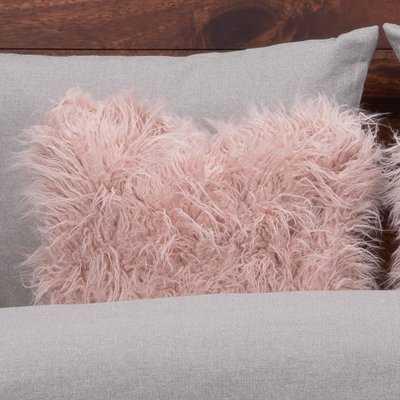 Faux Fur Throw Pillow - Wayfair