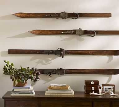 Found Wooden Skis, Set of 2 - Pottery Barn