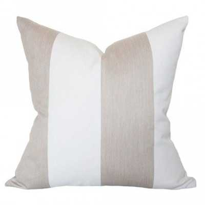 Beige & White Stripes - 14x20 pillow cover (lumbar - medium) - Arianna Belle