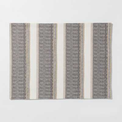 """19""""X14"""" Woven Textured Stripe Placemat Cream (Ivory) - Threshold - Target"""