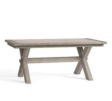 Toscana Extending Dining Table, Large, Gray Wash - Pottery Barn