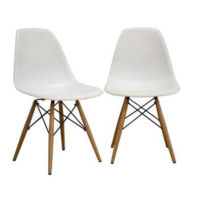 Azzo White Plastic Dining Chairs (Set of 2) - Home Depot