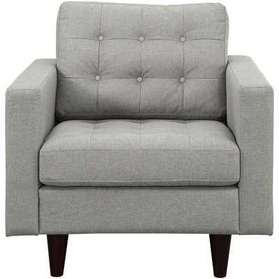 Empress Upholstered Armchair in Light Gray - Home Depot