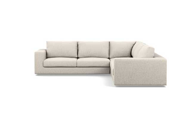 Walters Corner Sectional with Beige Wheat Fabric - Interior Define