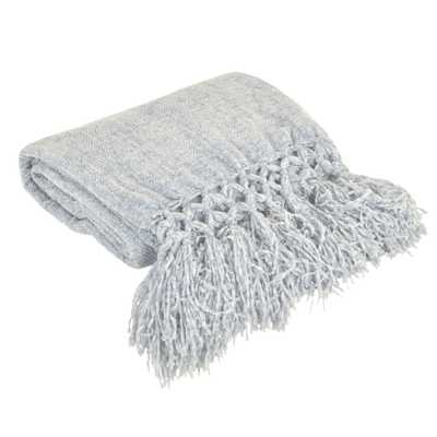 Chenille Throw Blanket Blue - Décor Therapy - Target