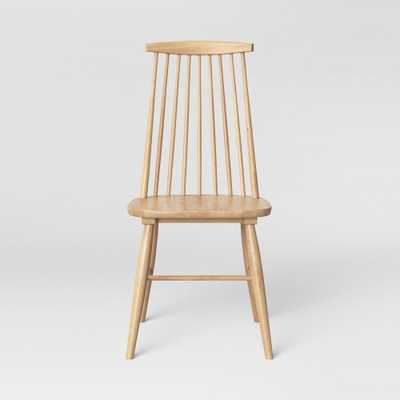 Harwich High Back Windsor Dining Chair Wood Tone Natural - Threshold - Target
