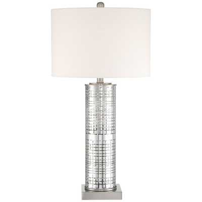 Novak Silver Glass Cylinder Table Lamp - Style # 64H53 - Lamps Plus