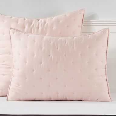 Tencel Cloud Sham, Standard/ Soft Rose - Pottery Barn Teen