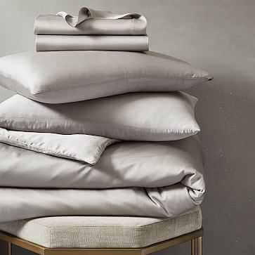TENCEL Bedding Set, Platinum, King - West Elm