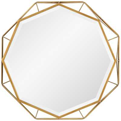 """Uttermost Mekhi Antiqued Gold Leaf 30"""" x 30"""" Wall Mirror - Style # 40R35 - Lamps Plus"""