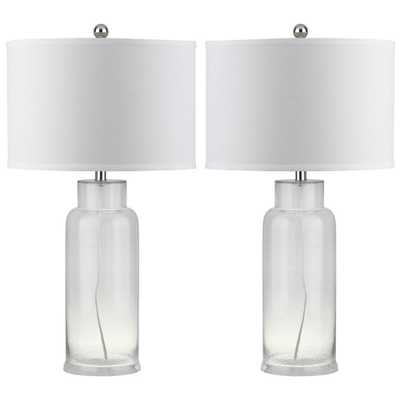 Safavieh Bottle 29 in. Clear Glass Table Lamp (Set of 2) - Home Depot