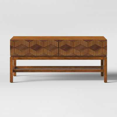 Tachuri Geometric Front Coffee Table Brown - Opalhouse - Target