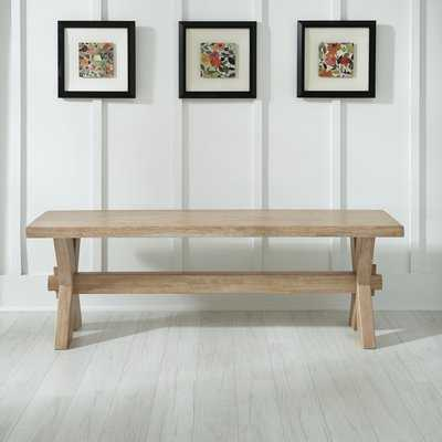 Romford Wood Bench - Wayfair